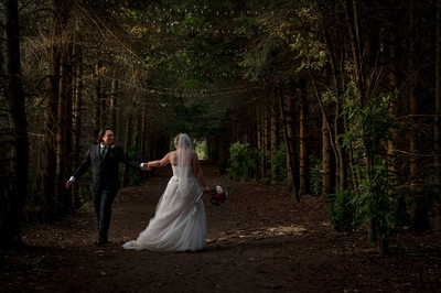 Kortright Centre Wedding Portrait in Alley