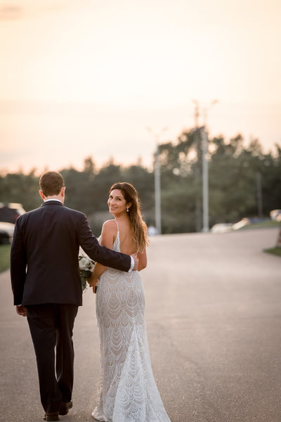 Sunset Portrait at Cobble Beach Wedding
