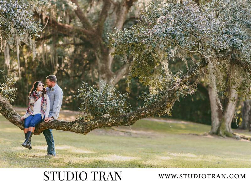 Avery Island Jungle Garden Engagement Photographs