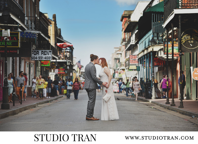 French Quarter Bourbon Street Wedding Photographer