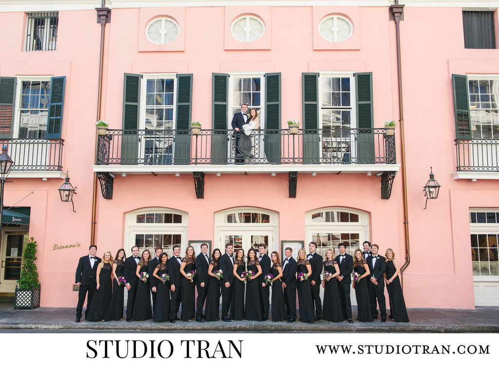 Brennans French Quarter Restaurant Wedding Photographer
