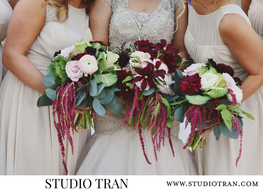 Elms Mansion Bride and Bridesmaids Bouquets