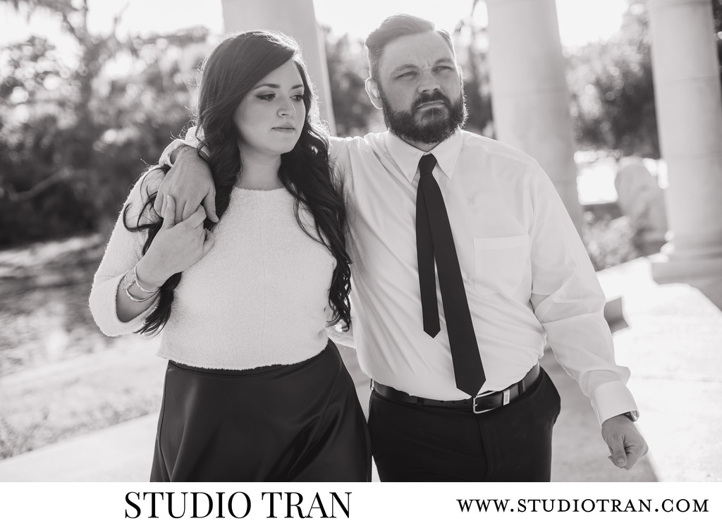 City Park Peristyle Engagement Session Photographer