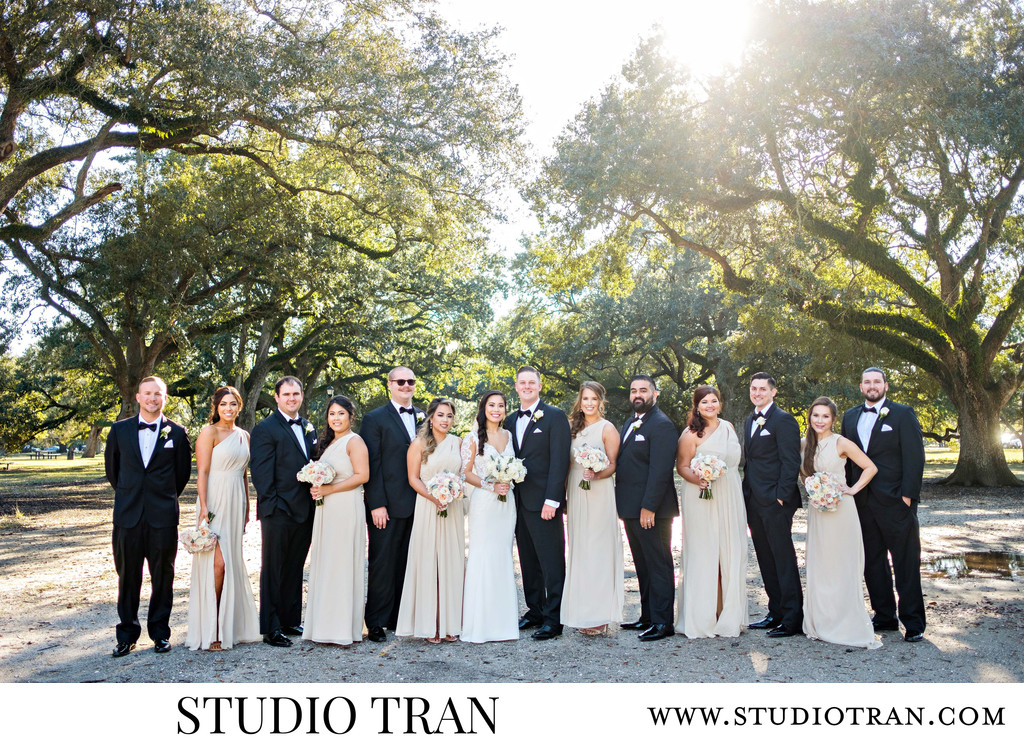New Orleans Armstrong Park Bridal Party Photographer