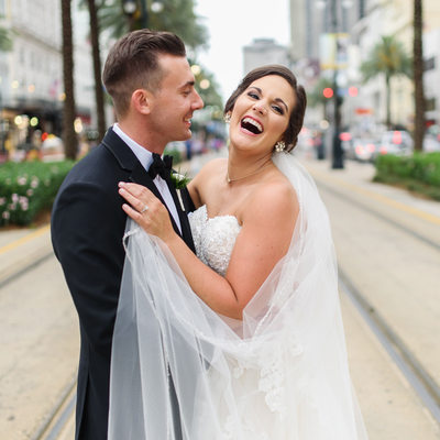 New Orleans Canal Street Wedding Photographer