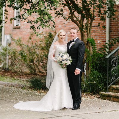 St. Matthew & Balcony Covid rescheduled wedding | alexis & james