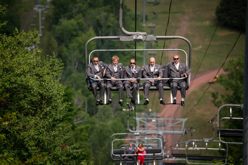 Groomsmen at Hunter Mountain Wedding