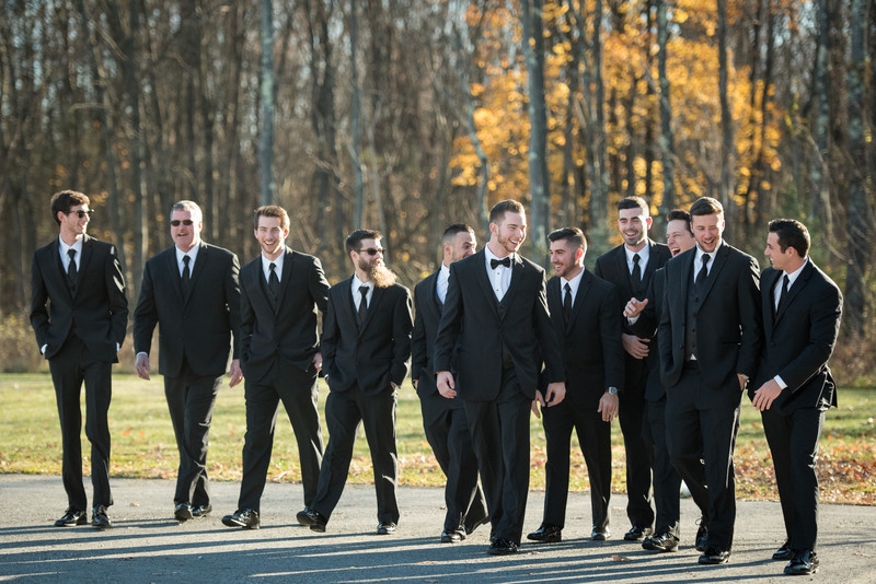 Groomsmen at Villa Borghese Wedding