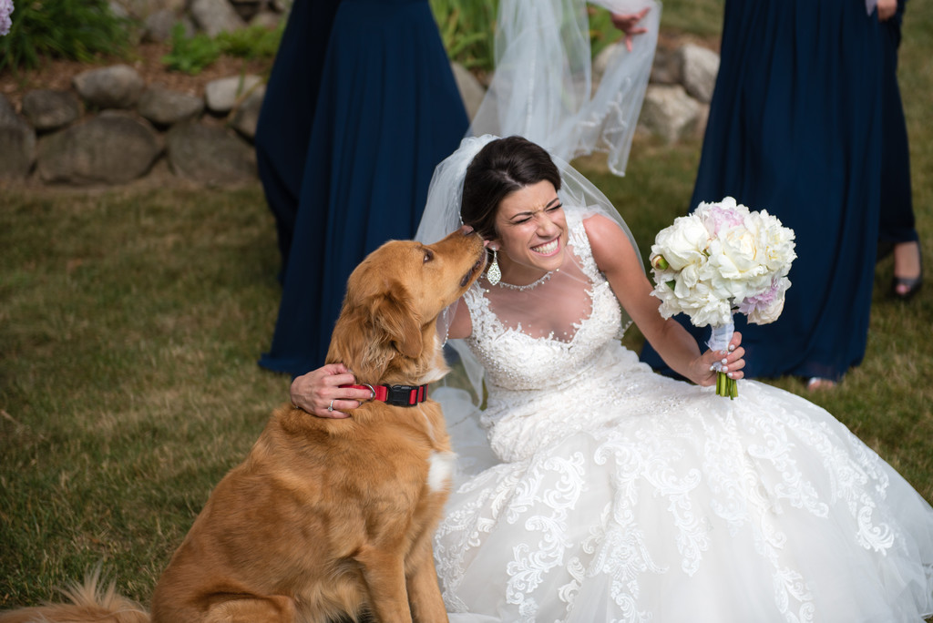 Ramsey Country Club Wedding Bride and her Dog