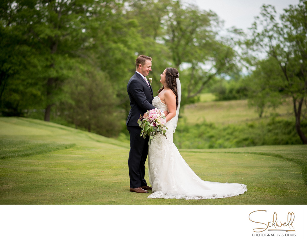 Couple Portrait Winding Hills Golf Club Wedding