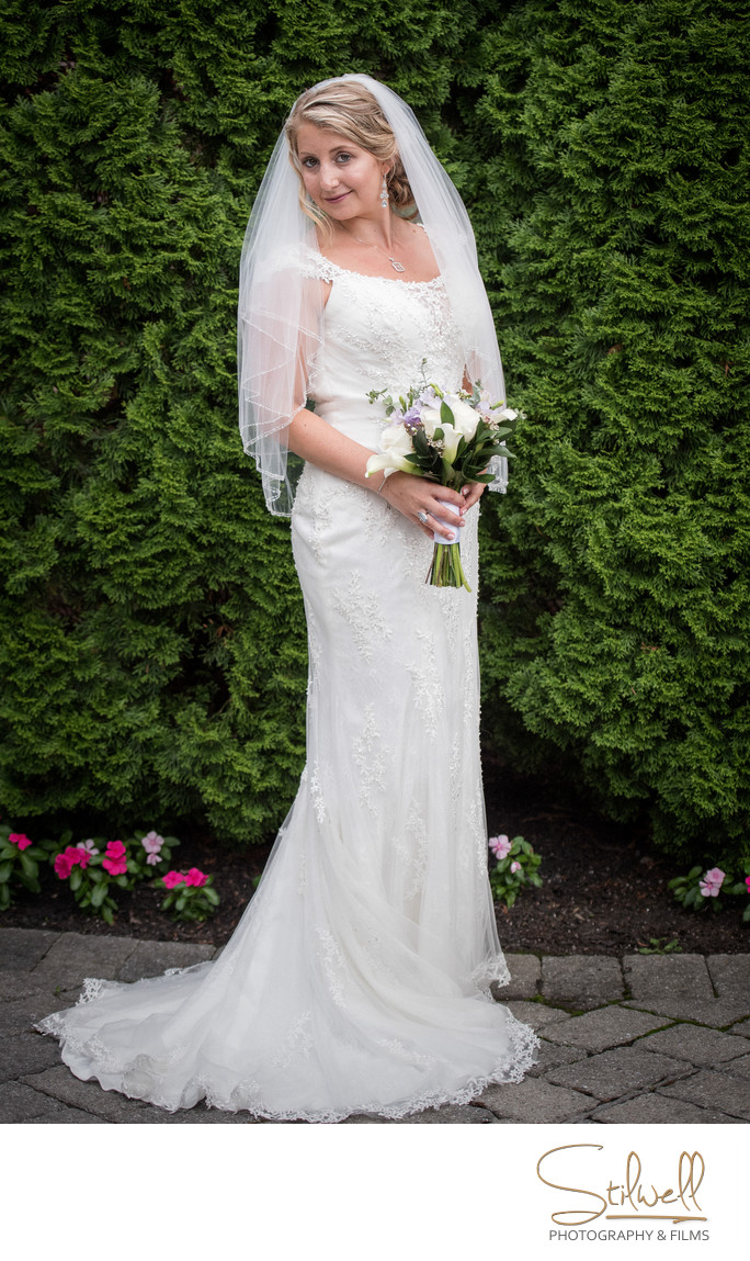 The Grandview Poughkeepsie Elegant Bride Portrait