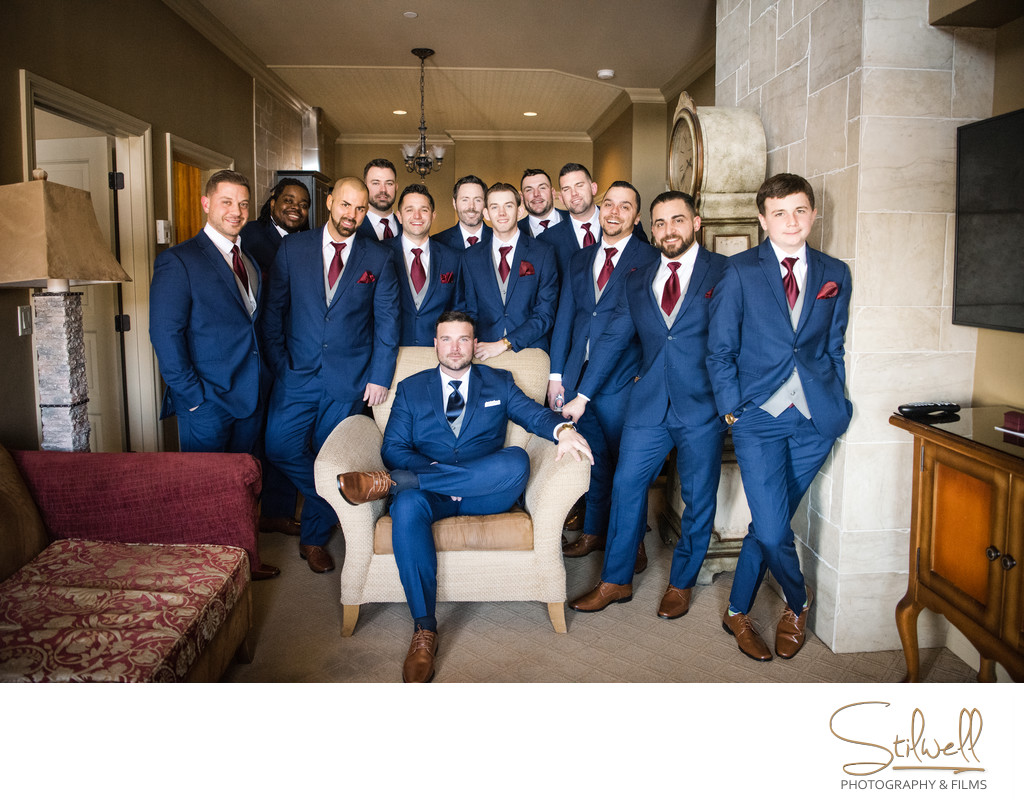 NJ Wedding Crystal Springs Groomsmen