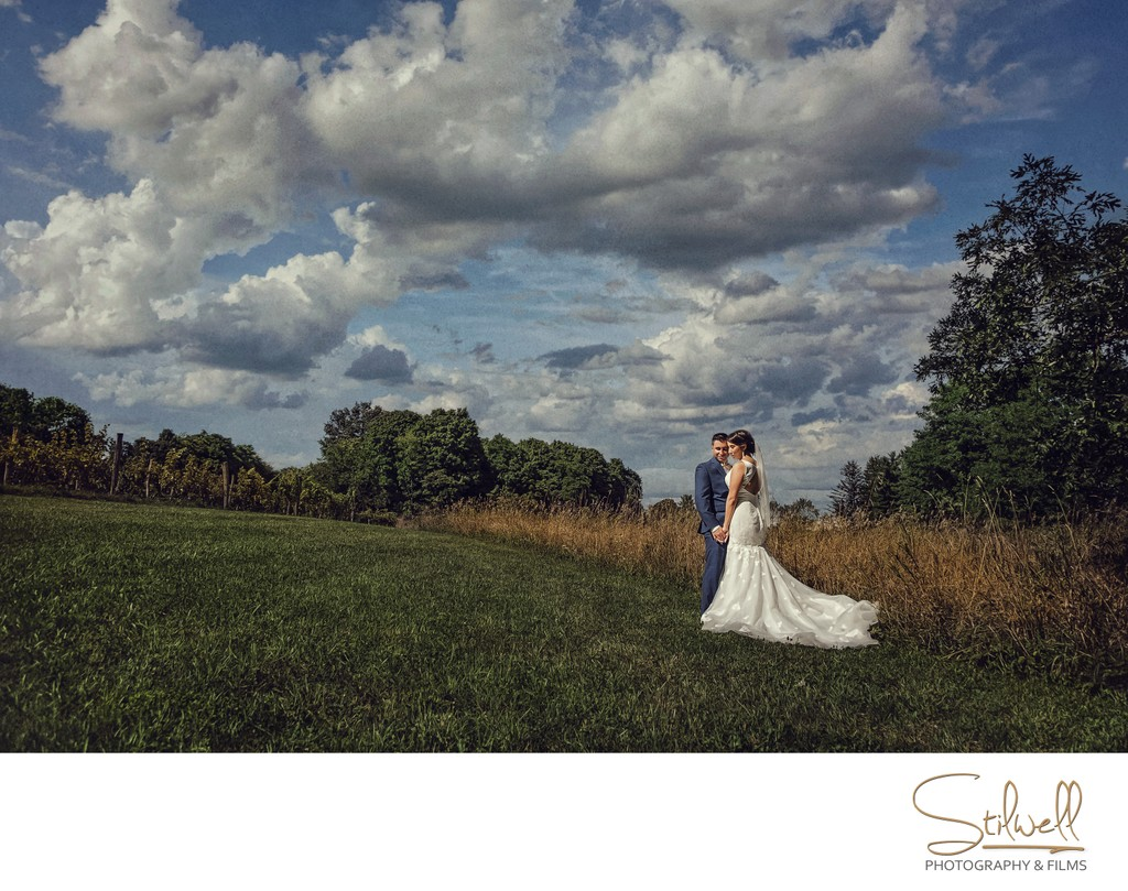 Red Maple Vineyard Wedding portrait