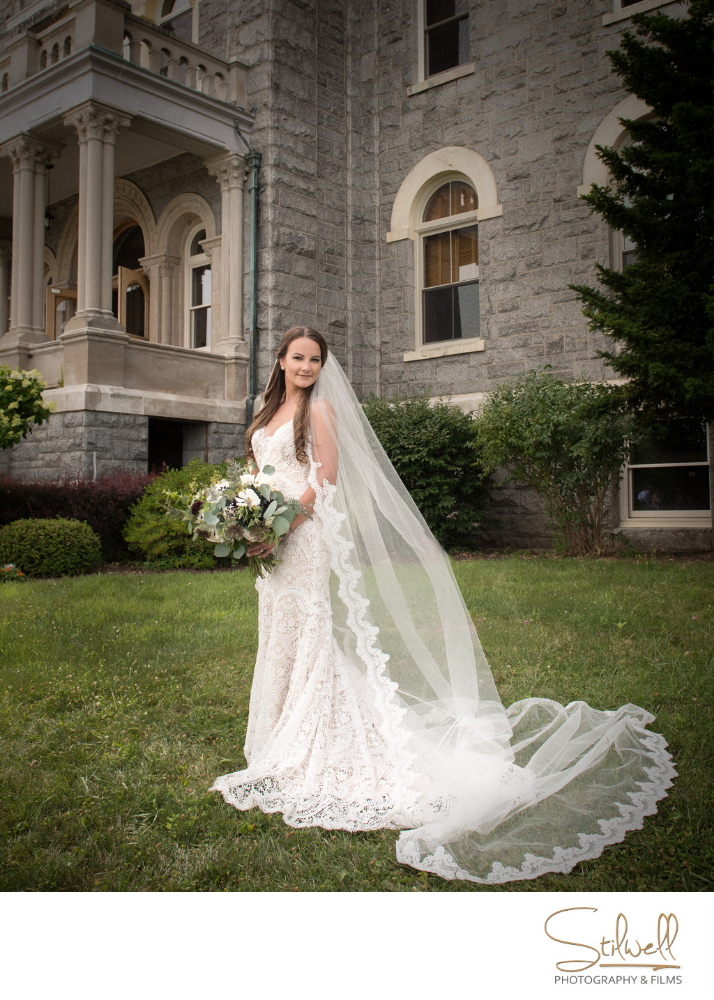 The Mount Academy NY Bride Portrait