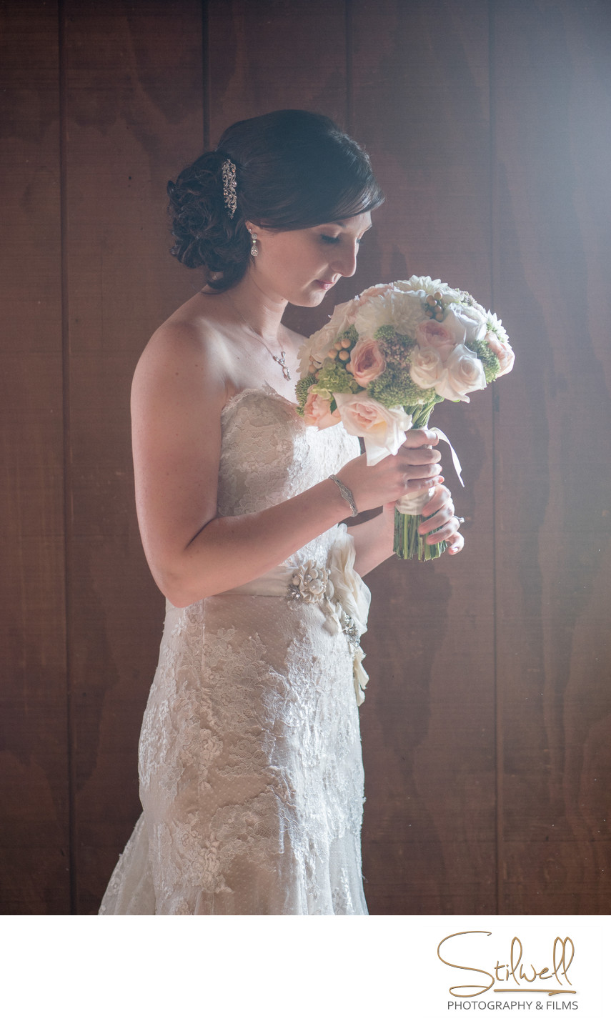 Bride with Bouquet RMV NY Wedding