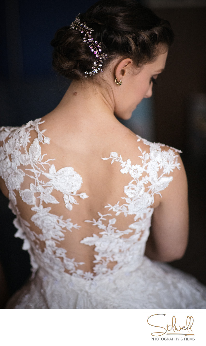 New York Wedding Dress Detail
