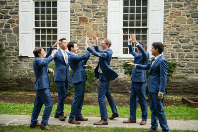 Groom and Groomsmen Senate Garage Wedding