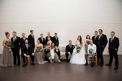 The Garrison Wedding Party Photo