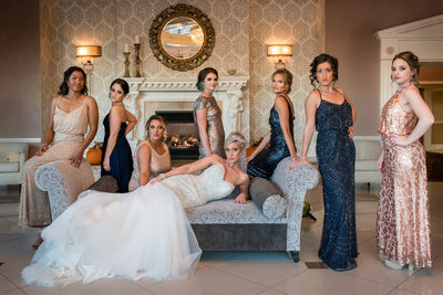 Bride Glamour Portrait Villa Borghese Wedding