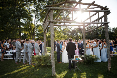 Red Maple Vineyard Ceremony NY Photography