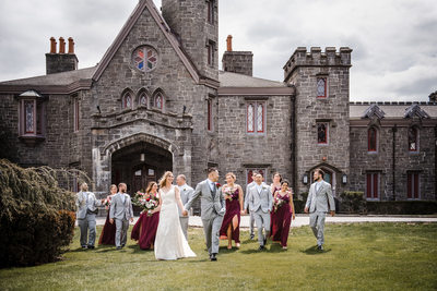 Whitby Castle Wedding Photographer Bridal Party