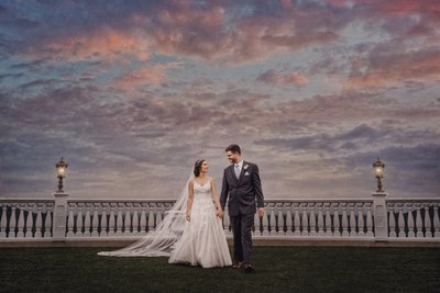 Bride and Groom Villa Barone Hilltop Manor