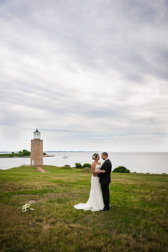 CT Waterfront Wedding Portraits