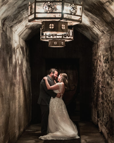 Couple Portrait Photography Brotherhood Winery Wine Cellar