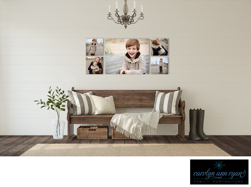 Adorable Wall Display Charlotte Family Photography
