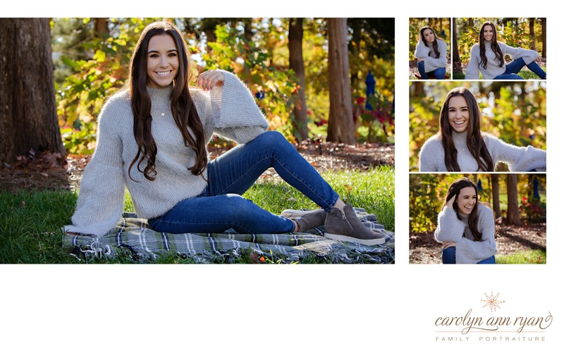 Casual Charlotte Senior Portraits Album Spread