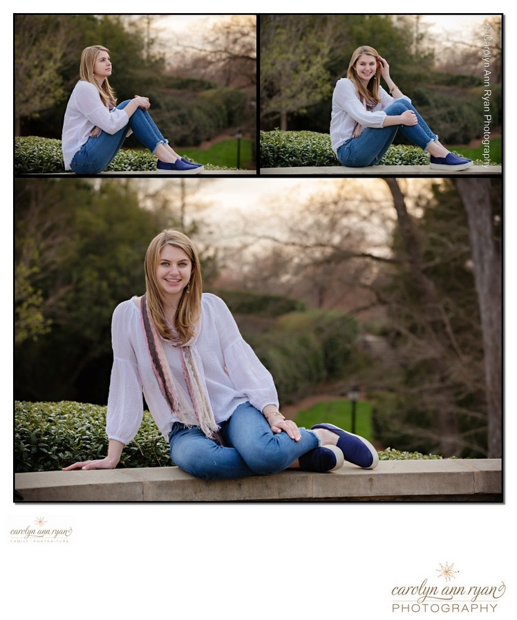 Charlotte Spring Outdoor Senior Portraits
