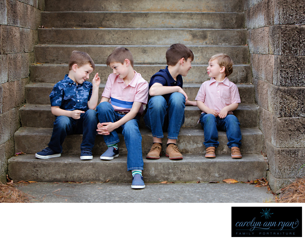 Charlotte Family Photographer Spring Sibling Portraits