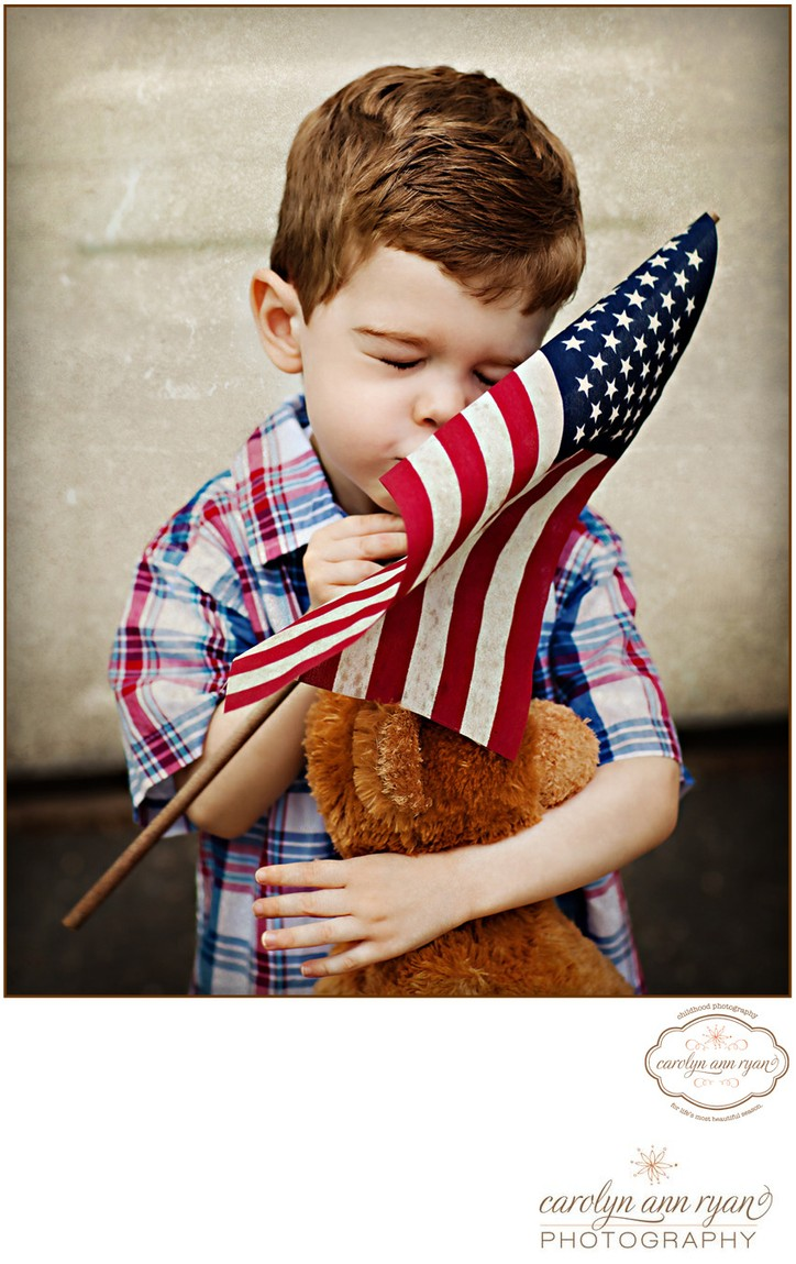 American Flag Portrait Session