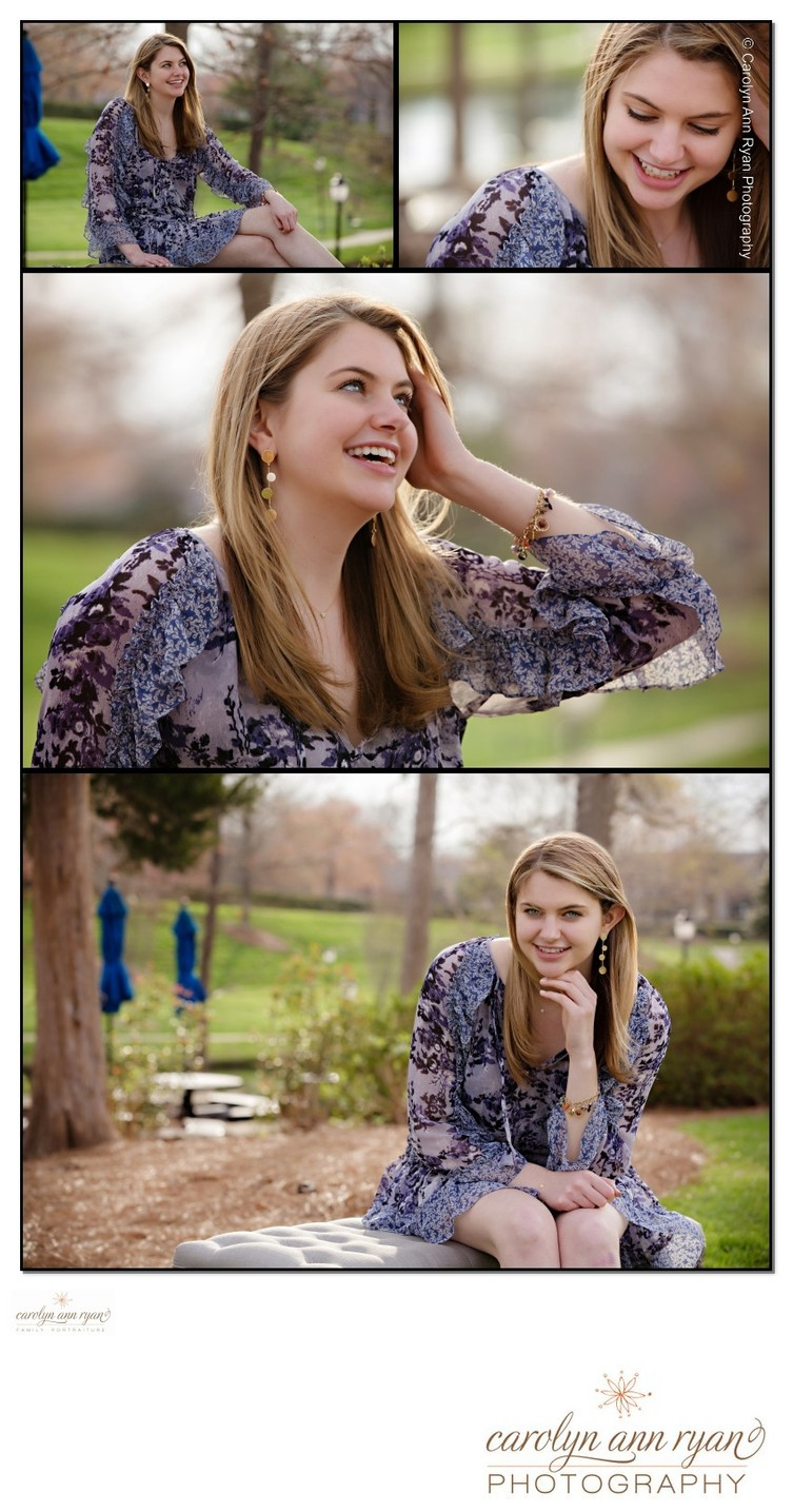Spring Outdoor Senior Portraits Charlotte NC