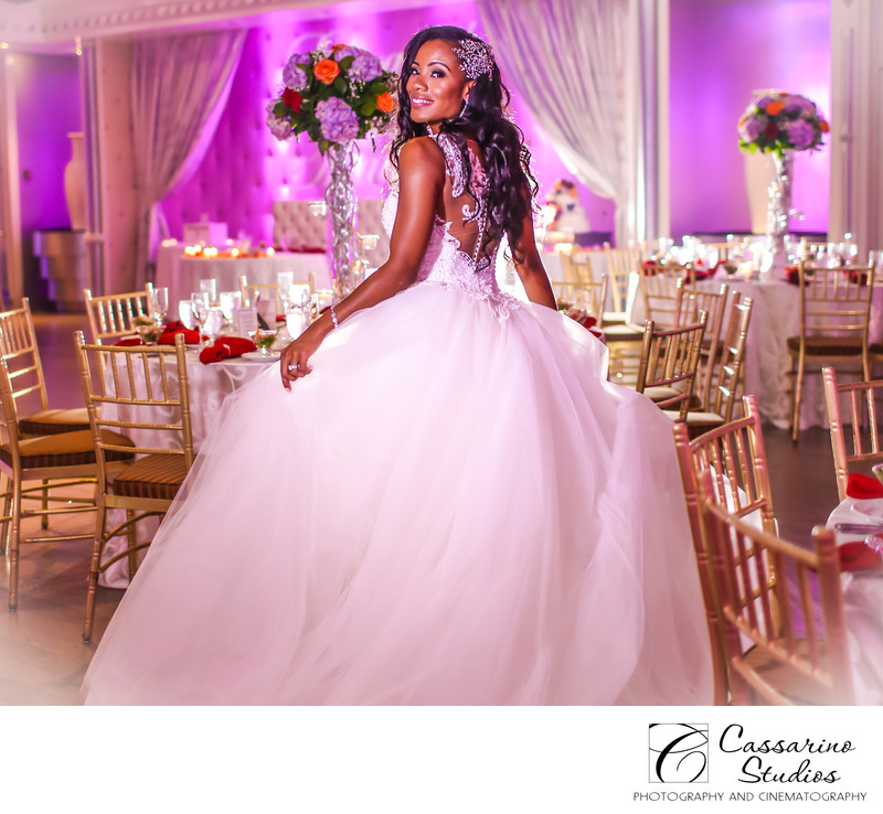 Beautiful Bride at Chateau Briand Caterer