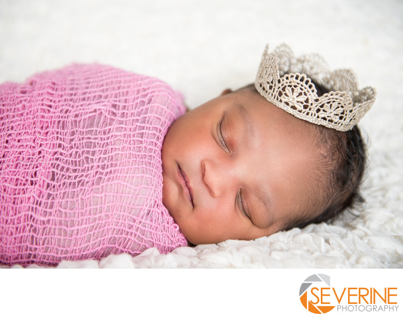 newborn girl photos with a crown jacksonville pink
