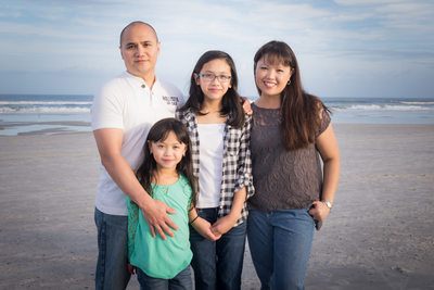 family pictures at the beach in jacksonville florida