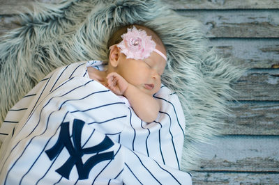 newborn girl new york yankee baseball jacksonville