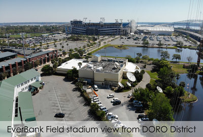Aerial view of the Everbank Jaguars stadium in Jacksonville