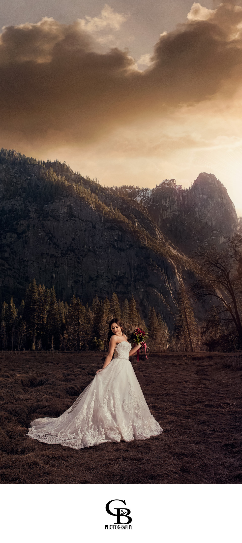 Yosemite Valley Bridal Photo C&B Pictures