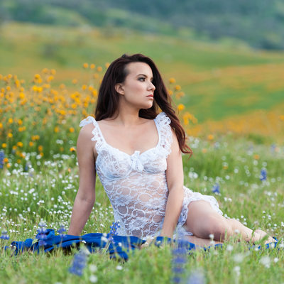 Wildflower Valley Lingerie Photograph