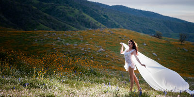 Field of Wildflowers boudoir photography
