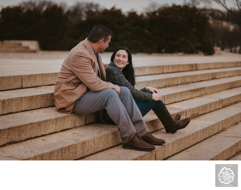 Lincoln Memorial Engagement Session
