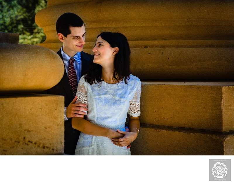 Couples Portraits at Mellon Auditorium DC