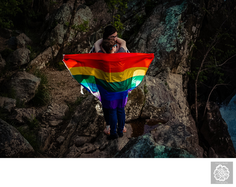 Same-Sex Engagement Session in Great Falls Maryland