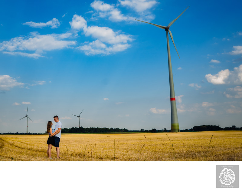DC Engagement Photographers with Energy Windmills