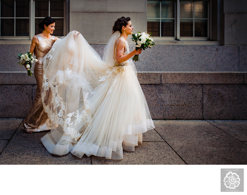 Bridal Portraits at the Ronald Reagan Building in DC