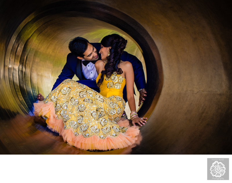 Indian Engagement Photos in Downtown Baltimore