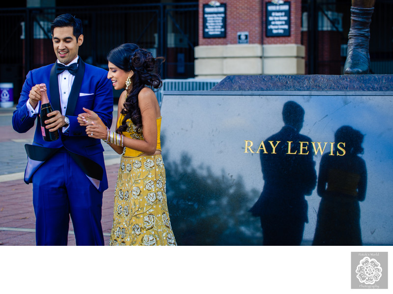 Engagement Session at the Baltimore Ravens Stadium