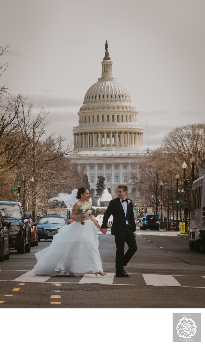 Wedding Photos by the Capitol in Washington, D.C.